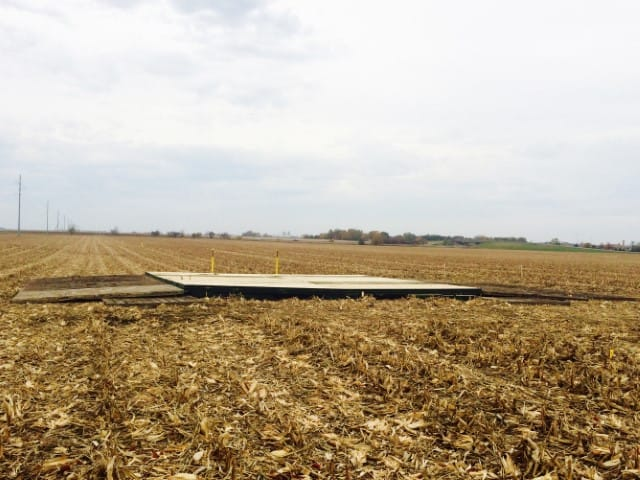 airbridge used to protect the pipelines buried underground