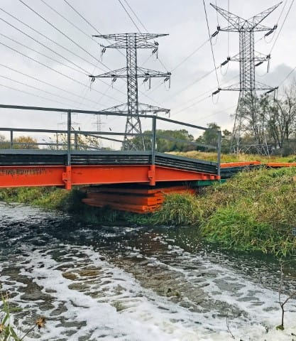 TerraCross Bridge used to create a temporary water crossing